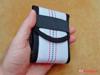 Small size wallet ID card holder for men firefighter fireman vegan or hipster