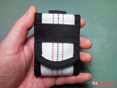 Minimal wallet banknote coin case for men firefighter fireman vegan hipster