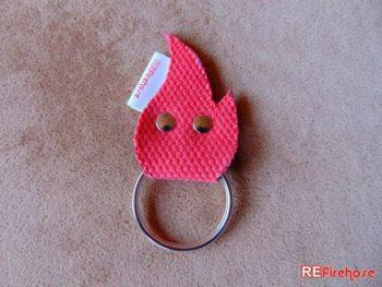 Firefighter key holder red flame firefighter keychain fireman accessory