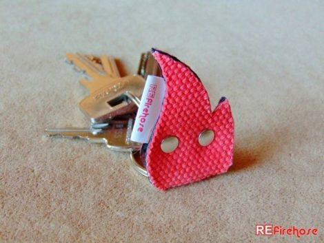 Fireman keychain for keys or gate opener ignition key or car key holder