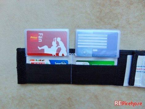 Cardholder wallet fire hose case for 2x4 pieces cards with 2 elastic pockets