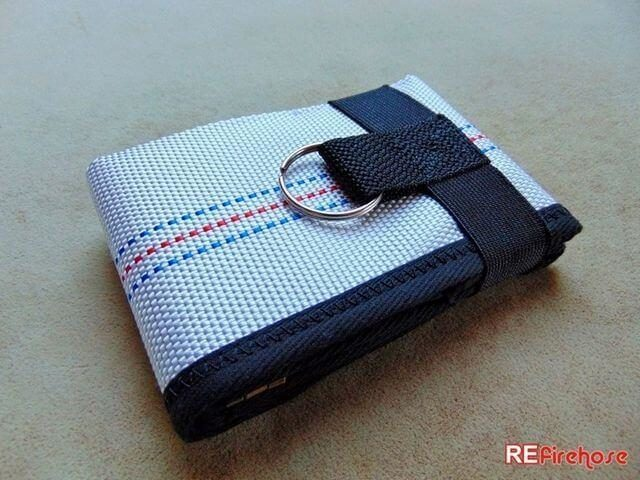 Safe wallet for men fixed with strong rubber band connectable with keyring