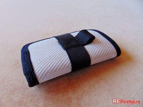 Safe card holder connectable to key ring or carabiner to link to bag or belt
