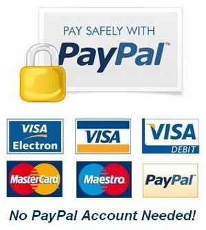 PayPal payment icon to use credit debit card PayPal on REfirehose shop